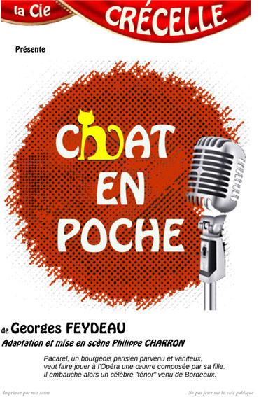 Affiche de Chat en poche de Geaorges Feydeau - Compagnie Théâtre Crécelle
