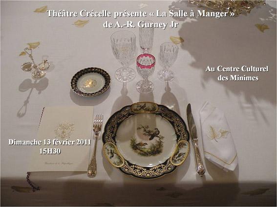 Affiche de La salle à manger de AR Gurney - Théâtre Crécelle