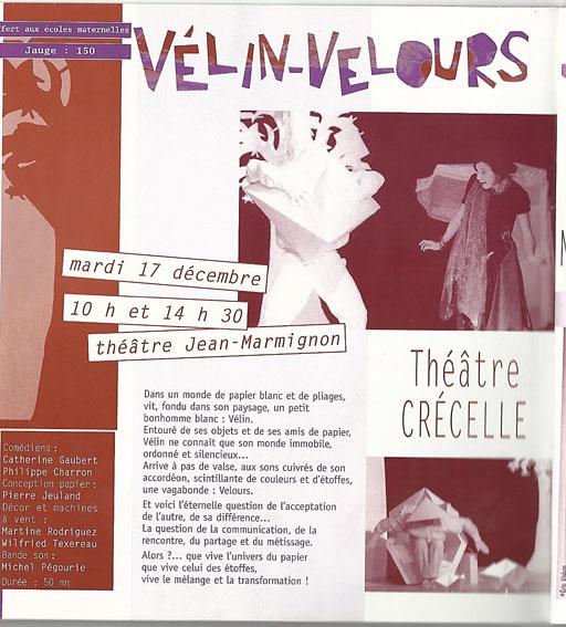 Vélin-Velours - Spectacle enfant Compagnie Théâtre Crécelle